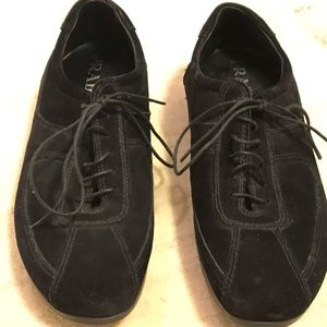 PRADA SPORT SHOES BLACK SUEDE SZ40/10 EXCEL CON